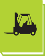 Equipment training manual featuring picture of a forklift truck
