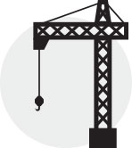 crane accident depicts a crane