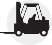 forklift truck accident depicts a forklift truck